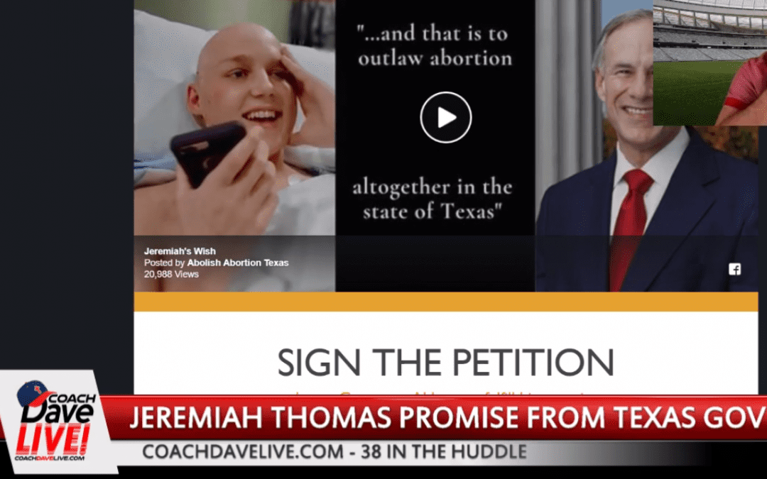 Sign Petition – Pro Life Promise to Jeremiah