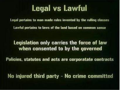 Legal vs. Lawful