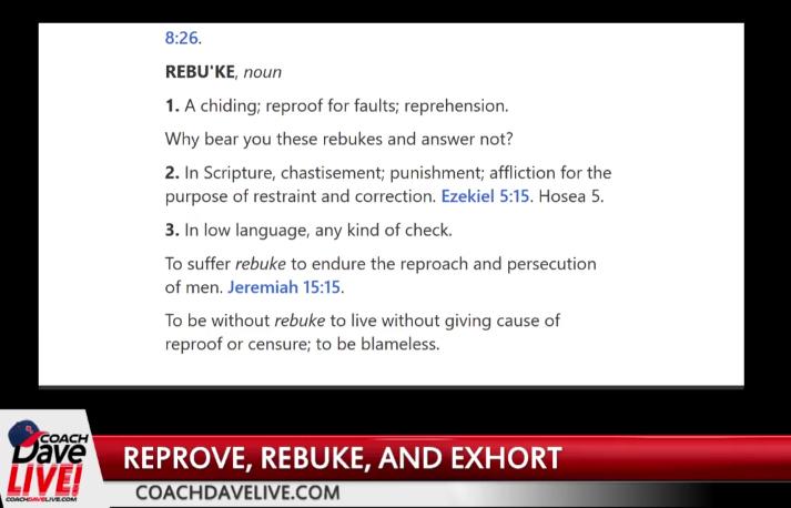 Reprove, Rebuke and Exhort